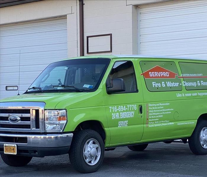 SERVPRO van parked at HQ